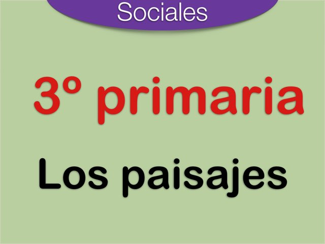 Sociales - Los Paisajes by Elysia Edu