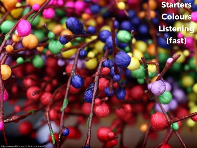 esl cambridge starters colours 4 listening FAST by Teeny Tiny TEFL