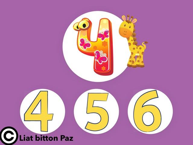 מספרים 4 עד 6 לפעוטות by Liat Bitton-paz