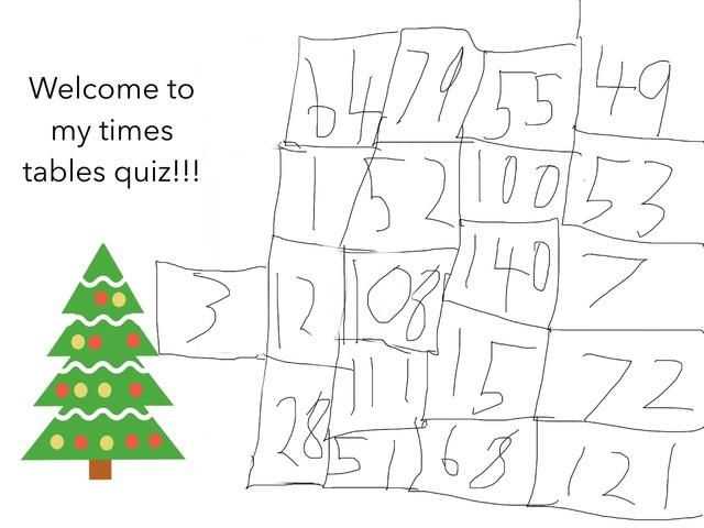Christmas Tree Quiz by Gemma Clarke