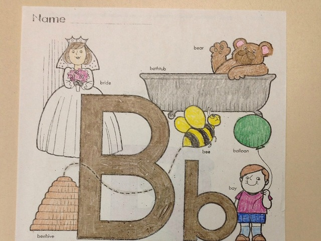 All About The letter B by Christine Snow