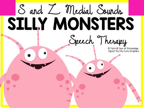 S & Z Medial Sounds - Silly Monsters Speech Therapy by Yara Habanbou