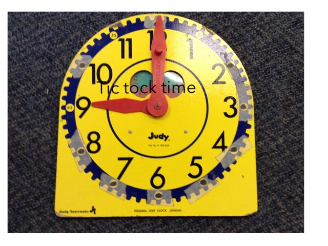 A telling time game  by Linda Motta