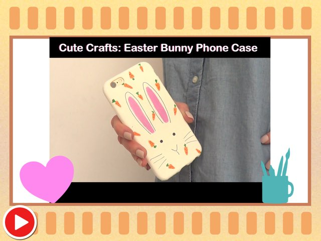 Cute Crafts: Easter Bunny Phone Case  by Miss Ruby