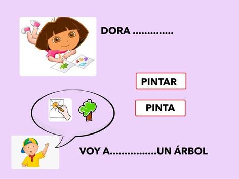 Dora Y Caillou. Presente E Infinitivo by Francisca Sánchez Martínez