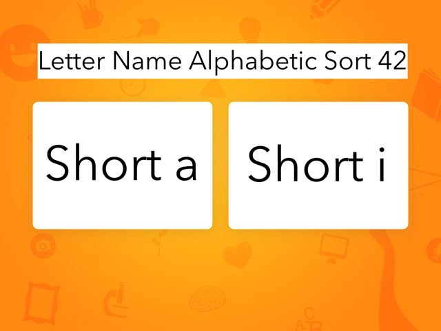 Letter Name Alphabetic Sort 42 by Erin Moody