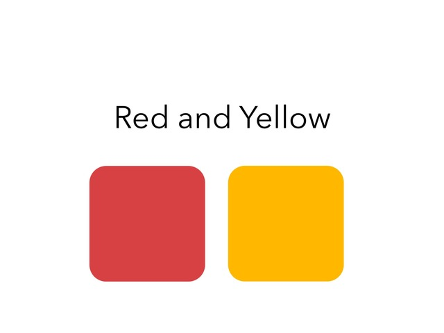 Color Discrimination (Red And Yellow) by Lori Board