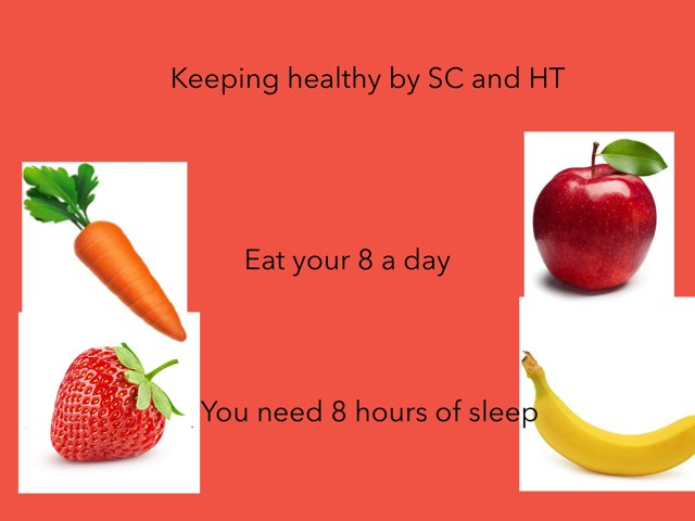 Healthy Eating By SC and HT by Barnston Primary