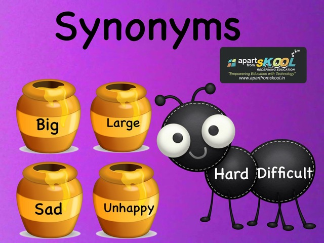 Synonyms by TinyTap creator