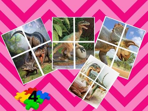 Dinosaurs Puzzle 4 Pieces by Liat Bitton-paz
