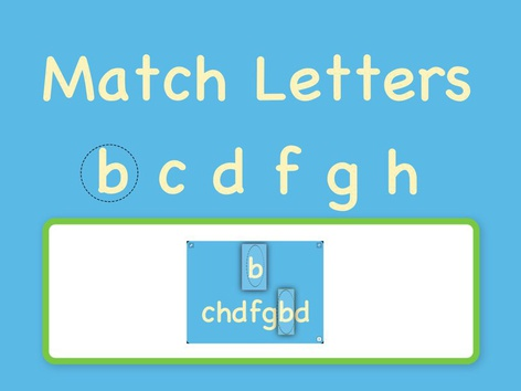 Match Letters b c d f g h  by Sara Anderson