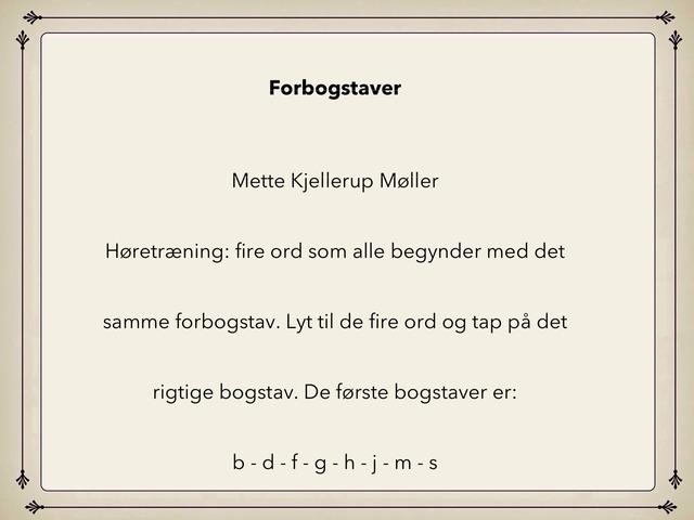 Forbogstaver by Mette Kjellerup Møller