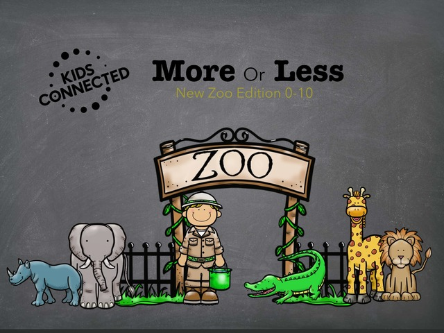 More Or Less Zoo Edition by Kids