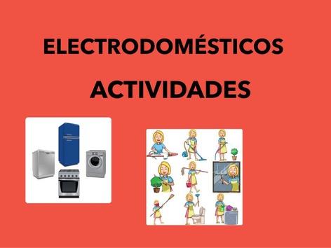 Electrodomésticos. Actividades  by Francisca Sánchez Martínez