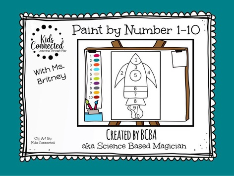 Paint By Number 1-10 Rocket by Kids  Connected