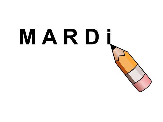 Écrire Mardi. by Valerie Escalpade