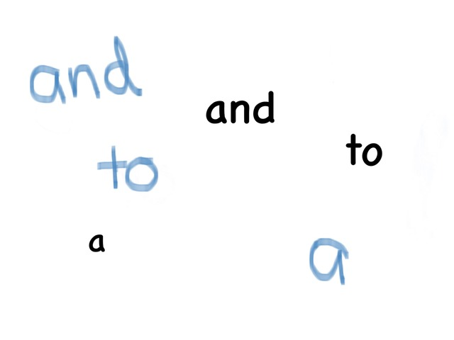 And, To, a. Sight Words by Jenny Mckellar