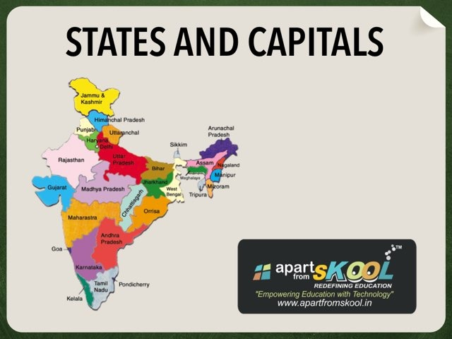 States And Capital of India  by TinyTap creator