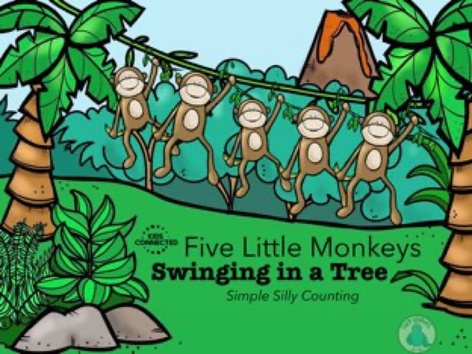Simple Silly Counting: 5 Monkey Swinging In A Tree by Kids  Connected