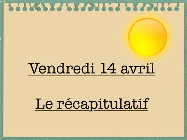 L - Ven14 - Récapitulatif  by Caroline Gozdek