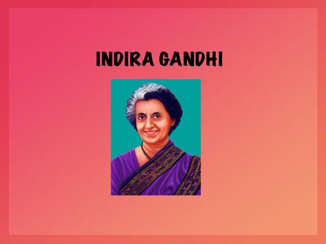 Indira Gandhi  by Beatriz Gonzalez Blanco