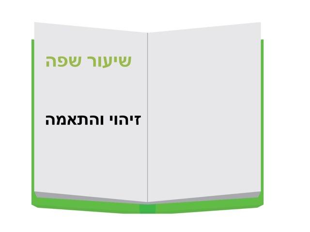 שיעור שפה -זיהוי  והתאמה by מירית בכר