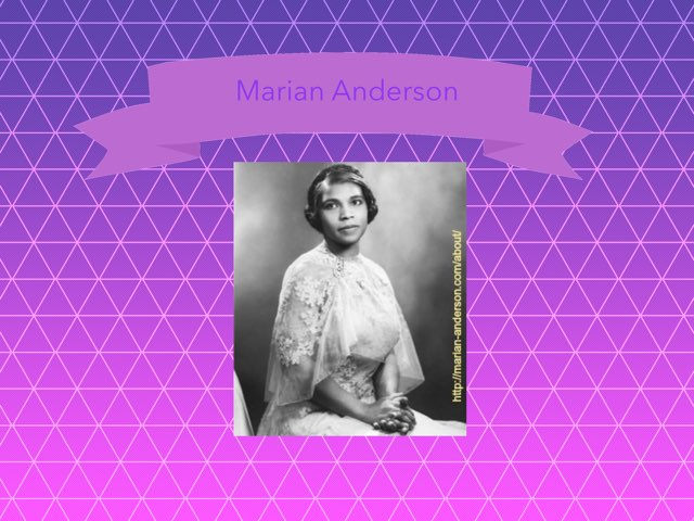 Marian Anderson by Christine Snow
