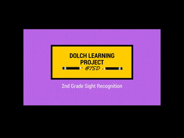 Word ID 3: Dolch 2nd Grade by TSD Library