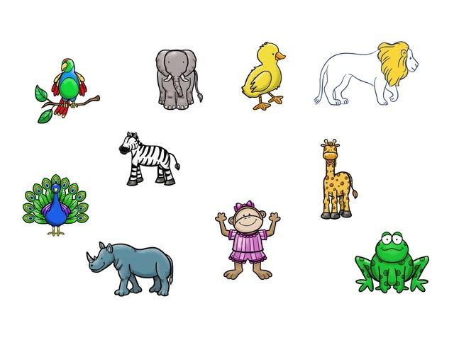 שמות בעלי חיים by TinyTap creator