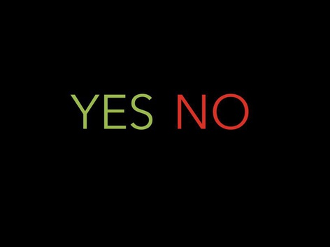 YES/NO VISUAL by Maegan Moss