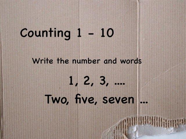 Counting 1-10 by Gundala Petir