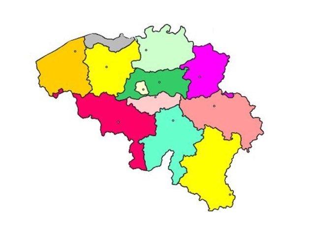 België: de 10 provincies by Ianthe De Baene