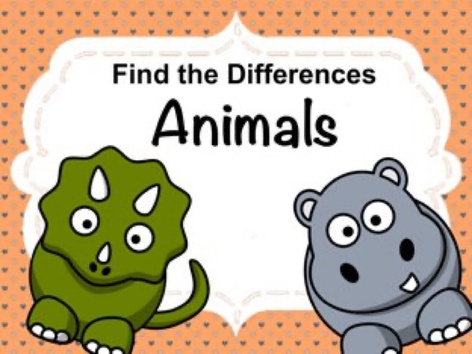 Find The Differences - Animals by Ellen Weber