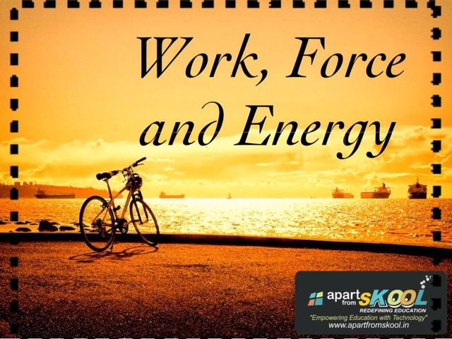 Work ,force And Force by TinyTap creator