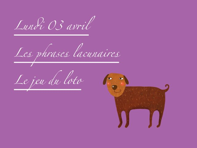 A - Lun03 - Phrases Et Jeu Du Loto  by Caroline Gozdek