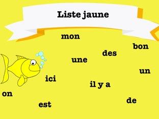Mots frequents - Liste jaune by Sara Koene