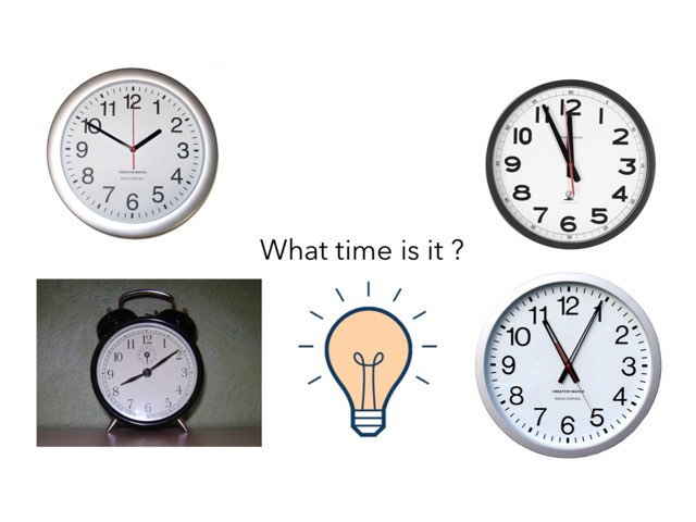 What Time Is It ? 6e by Teacher Santa