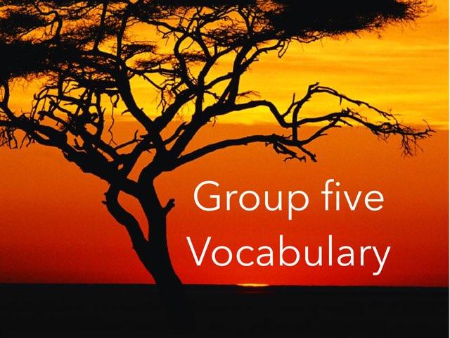 Vocabulary by David Serrano Javaloyes