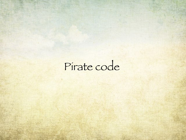 Pirate Code by Bea Olleta