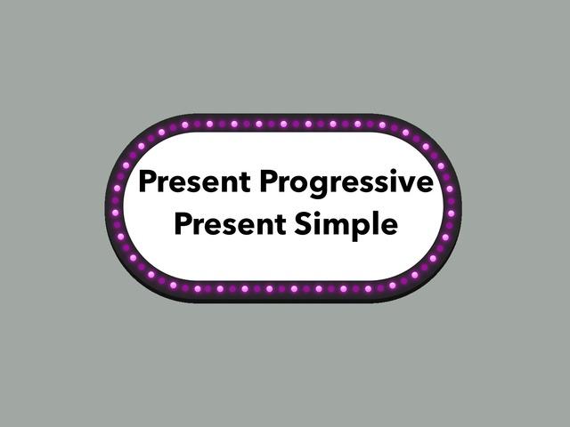Present simple Vs present Progressive  by Lama Ali