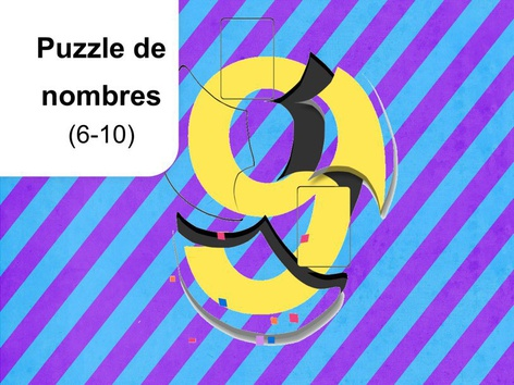 Puzzle de nombres 6-10 by Mr. Puzzlez