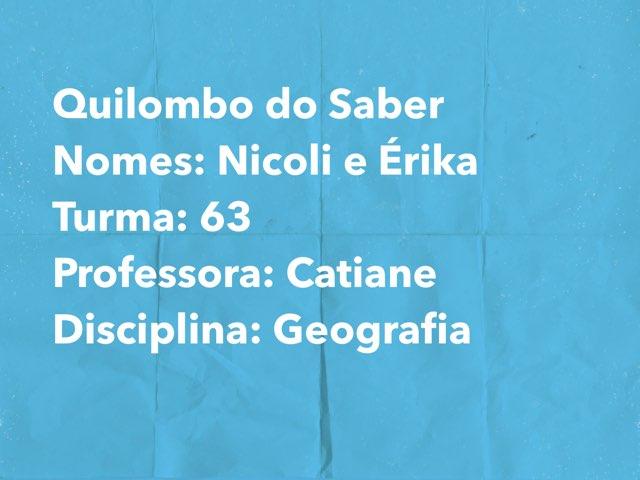 Nicoli E Érica by Rede Caminho do Saber