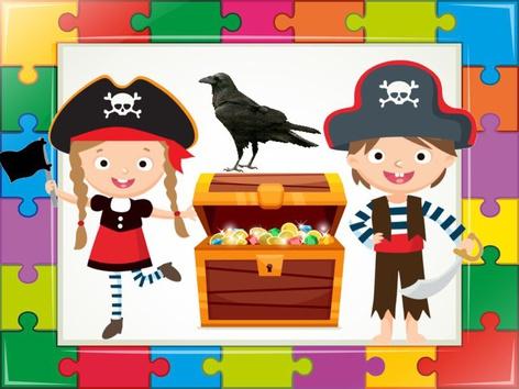 Pirates Puzzle  by Liat Bitton-paz