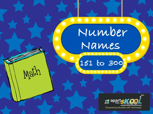Number Names(151-300) by TinyTap creator