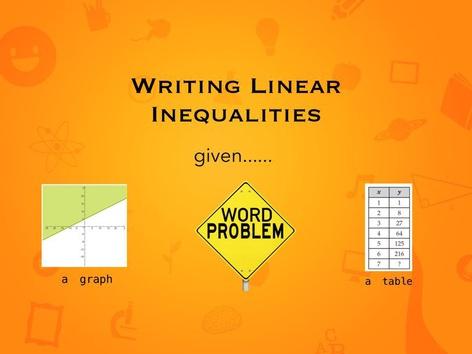 Writing Linear Inequalities  by Natasha Antonini