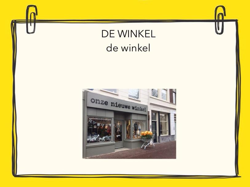 Woordenschat WINKEL  by Louisa Moyson