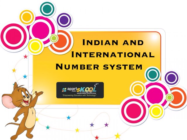 Indian And International Number System  by TinyTap creator