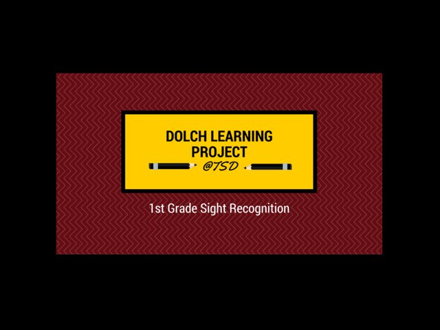 Sign ID 1: Dolch First Grade by TSD Library