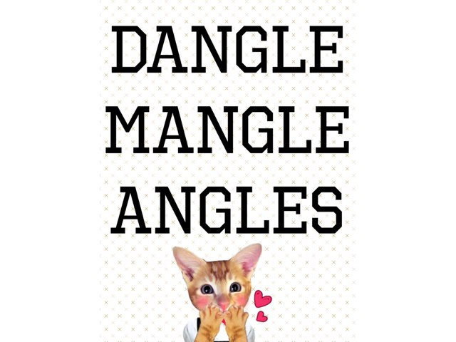 Dangle mangle angles by Krystal Wiggins