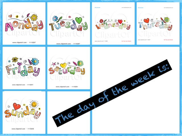 Days Of The Week by Kellie Morrison